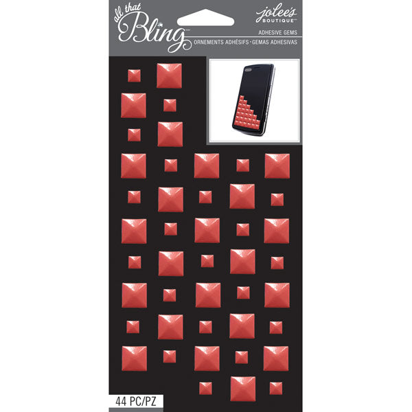 Coral Studs Bling Gems 50-50725