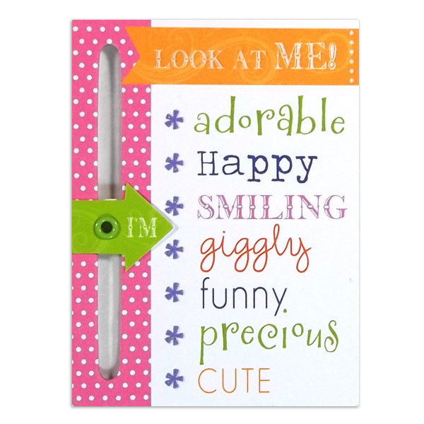 Baby Girl Chipboard Slider DV-CS-105