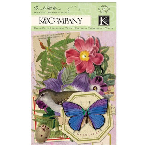 Flora and Fauna Die-Cut Cardstock and Vellum KCO-30-599628