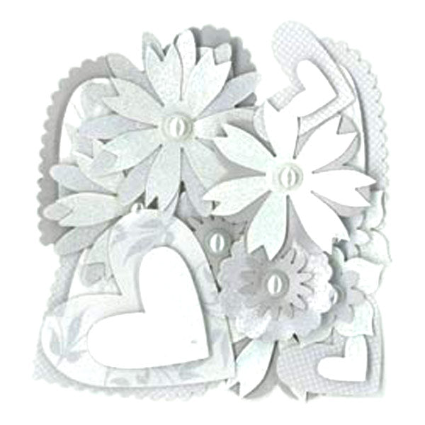 The Kiss Hearts and Flowers Layered Accents KCO-30-311824