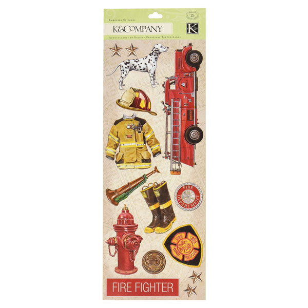 Firefighter Image Embossed KCO-551015