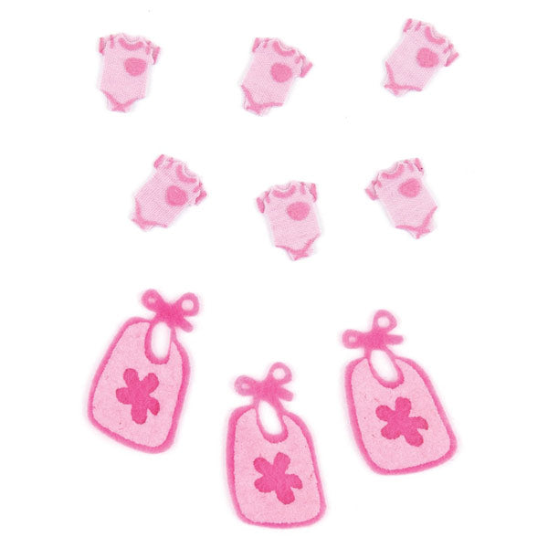 Baby Girl Pajamas and Bibs 50-00444
