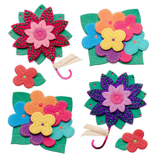 Colorful Stitched Flowers 50-21293