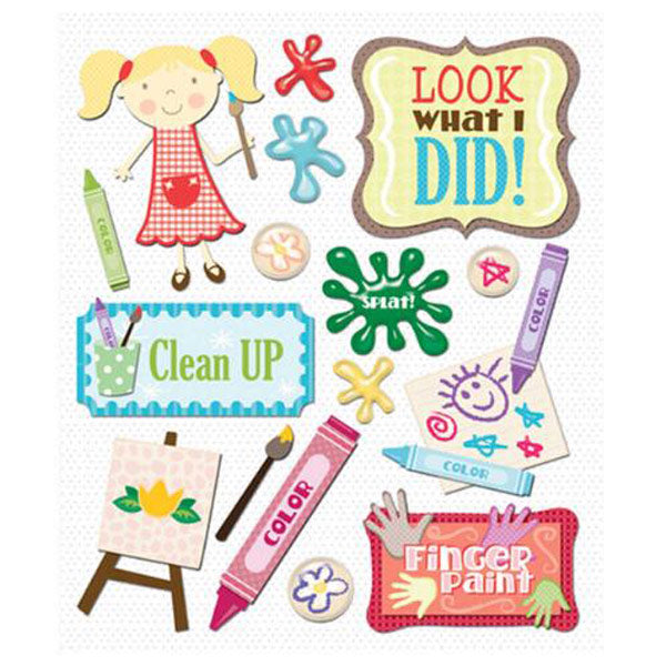 Coloring and Painting Sticker Medley KCO-30-587489