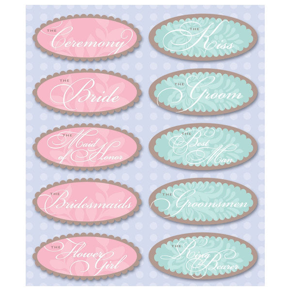 Wedding Party Sticker Medley KCO-30-628465