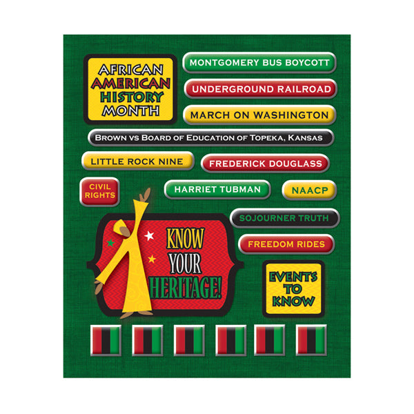 African American Heritage Sticker Medley KCO-30-586055