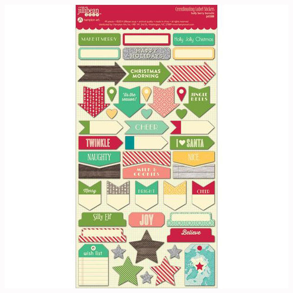 Holly Berry Borscht Coordinating Labels HA-JB0388