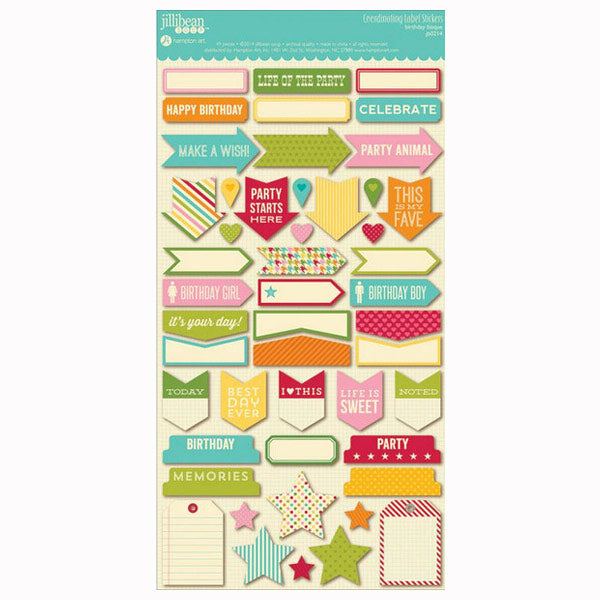 Birthday Bisque Coordinating Labels HA-JB0214