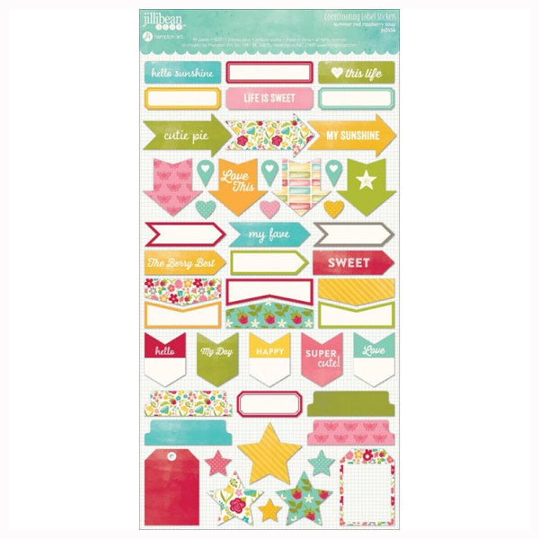 Summer Red Raspberry Soup Coordinating Labels HA-JB0556