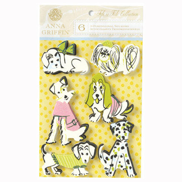 FIfi and Fido Collection Cardstock Dogs AG-DE1249