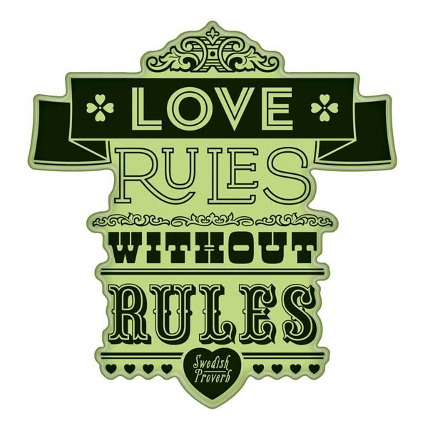 Love Rules Proverb I-60-60326