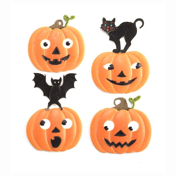Bat and Cat Pumpkins 50-20994