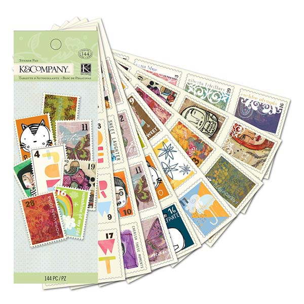 Handmade Stamps Sticker Pad KCO-30-387584