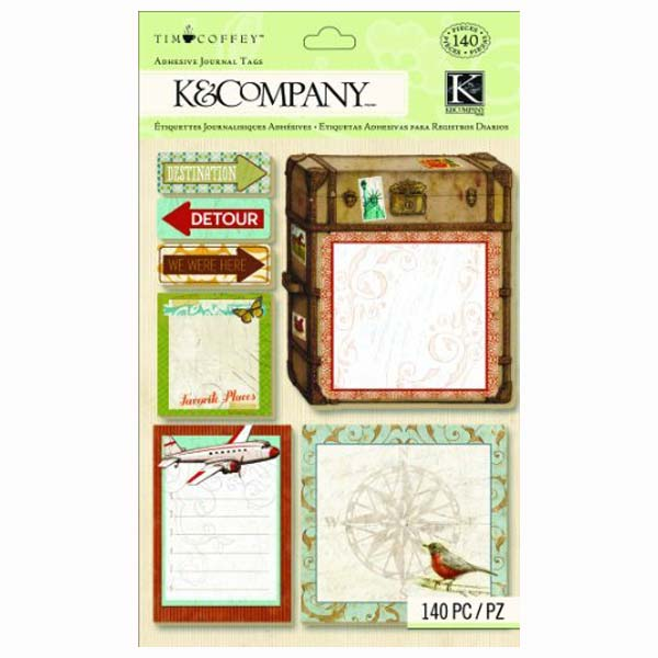 Tim Coffey Travel Adhesive Journal Tags KCO-30-679528