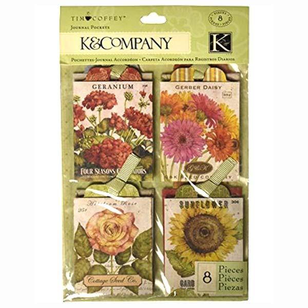 Cottage Garden Seed Packet Journal Pockets KCO-30-598676
