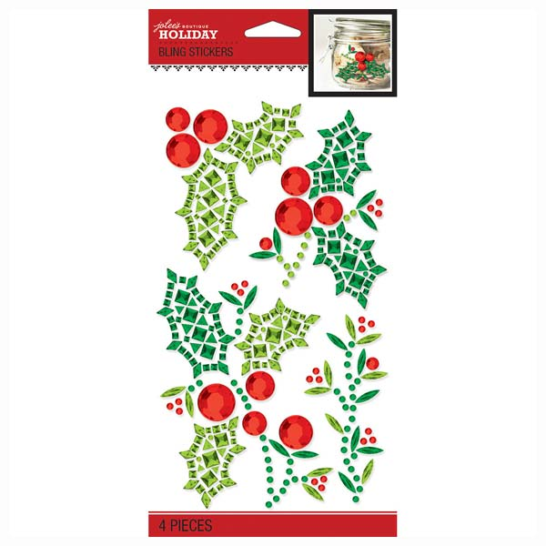 Holly and Berries Holiday Bling 50-40593