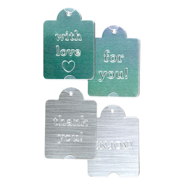 Metal Embossed Tags 50-30386