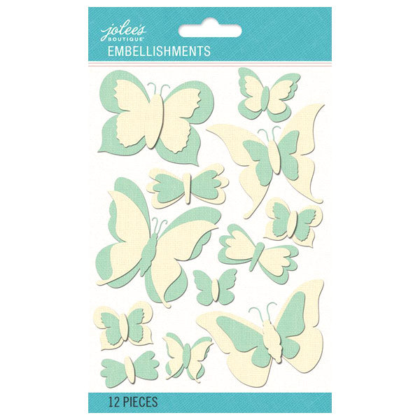 Mint and Cream Dimensional Burlap Butterflies 50-60500