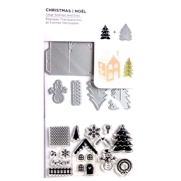 3D Christmas House and Tree R-529185