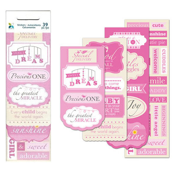 Baby Girl Mini Message Pad M-19162