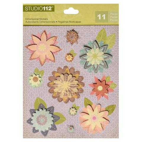 Fancy Floral Dimensional Stickers KCO-30-596665
