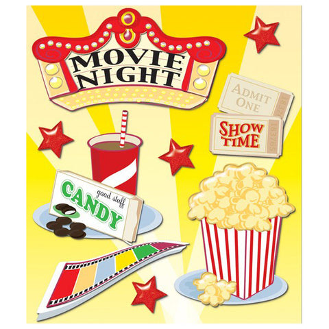 Movie Night Sticker Medley KCO-30-586284