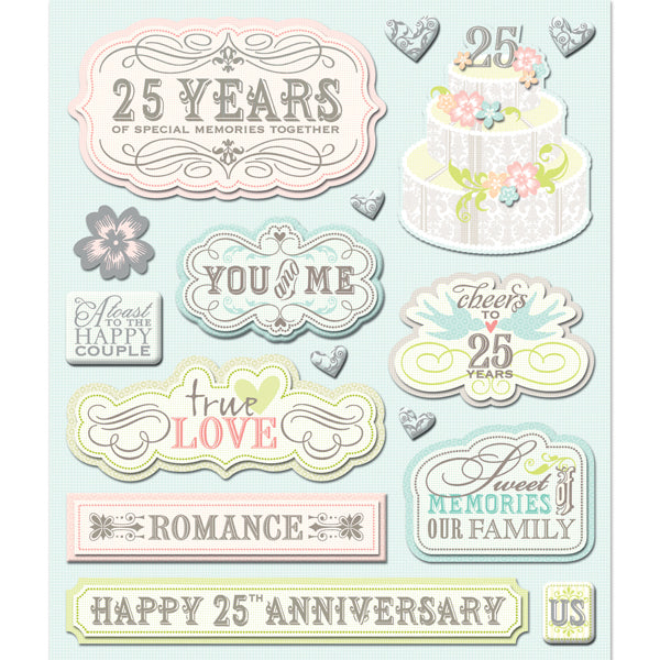 25 Year Anniversary Sticker Medley KCO-30-587595