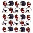 Football And Helmets Repeat 50-20742