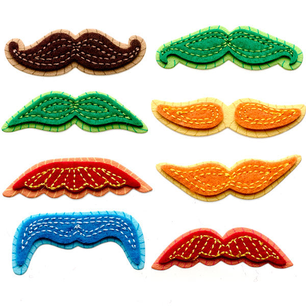 Mini Colorful Moustaches 50-21305