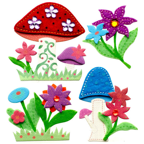 Colorful Stitched Mushrooms 50-21294