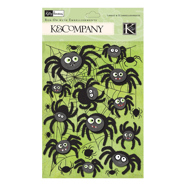 Halloween Spider Rub-Ons with Gems KCO-30-622296