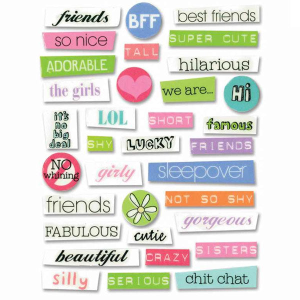 BFF Pebble Words SS-276