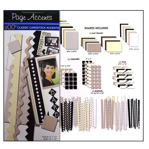 Classic Cardstock Page Accents WT-28208