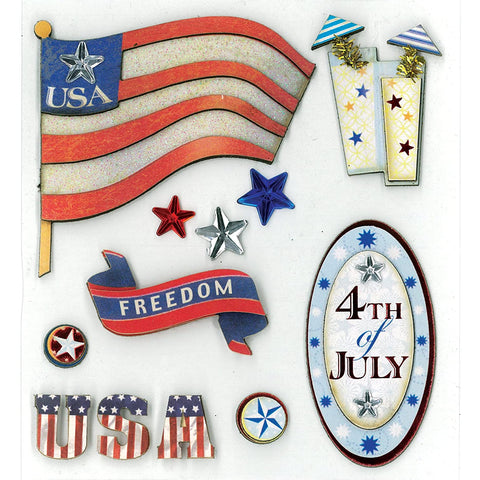 4th of July Dimensional Sticker KCO-30-577510