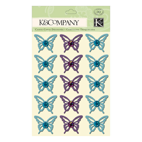Botanical Butterfly Adhesive Chipboard KCO-30-614406