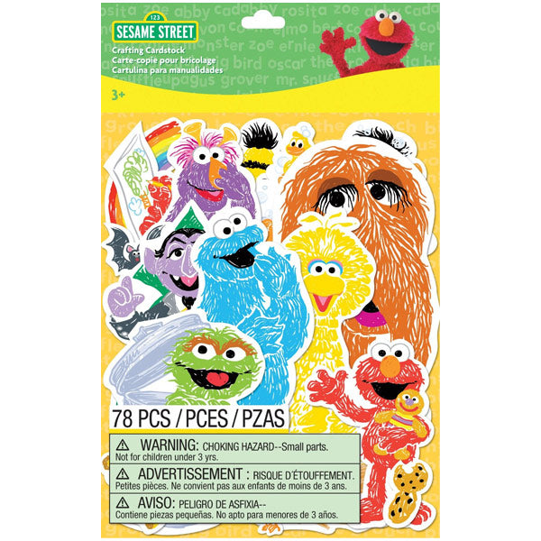 Sesame Character Crafting Cardstock 51-01016