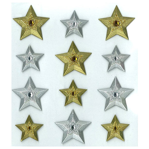 Gold Silver Stars Cabochons 50-20826