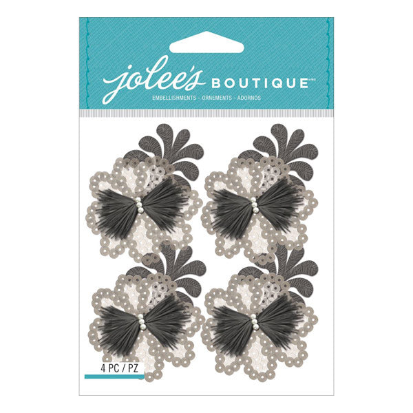 Grey Sequins Florals 50-21659