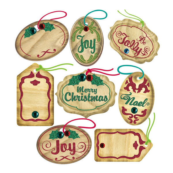 Mini Christmas Oval Tags Repeats 50-21270