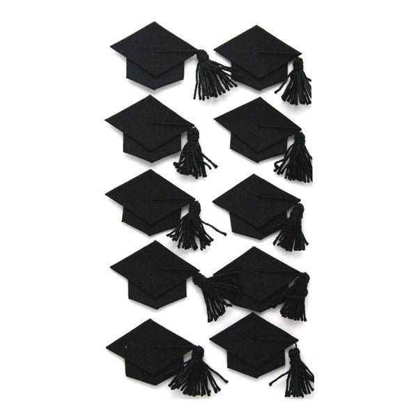 Black Graduation Caps SPJBLG229