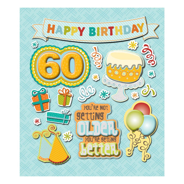 60th Birthday Sticker Medley KCO-30-587755