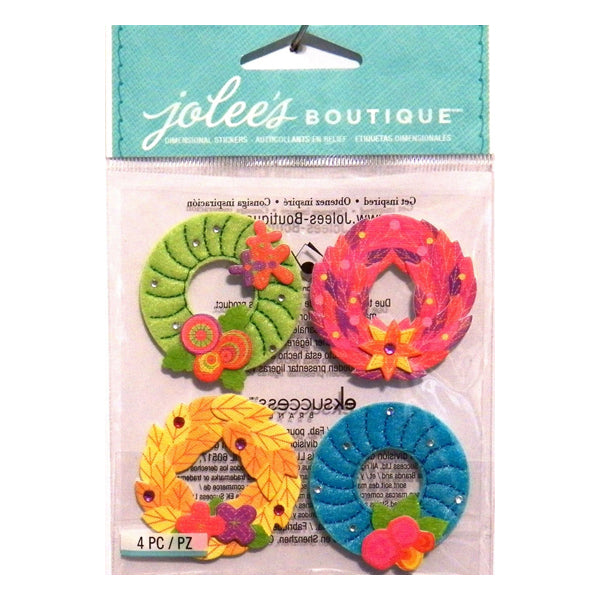 Colorful Stitched Wreaths 50-21302