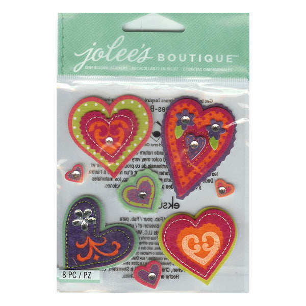 Colorful Stitched Hearts 50-21290