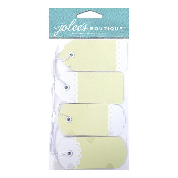 Ivory Tags with Twine 50-30172