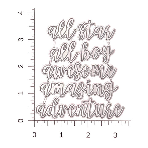 All Star Boy Script Die Cut