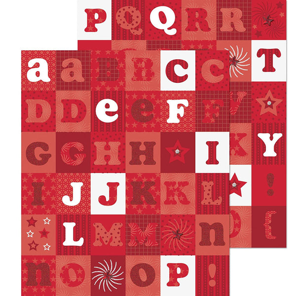 Americana Alphabet Red Die-Cut Sticker KCO-30-588080