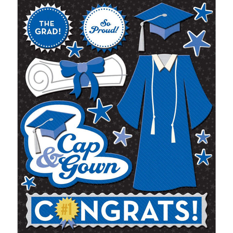 Blue Cap and Gown Sticker Medley KCO-30-623255