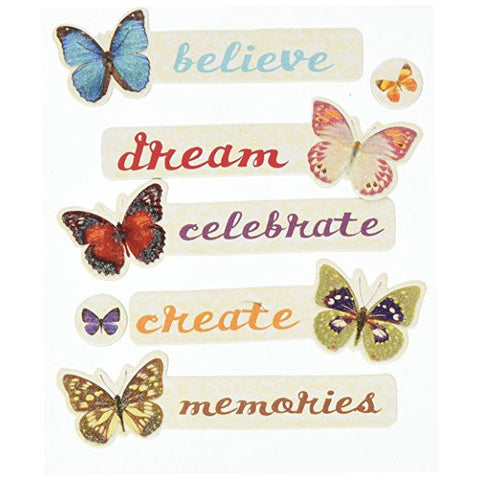 Butterfly Words Adhesive Chipboard KCO-30-595972