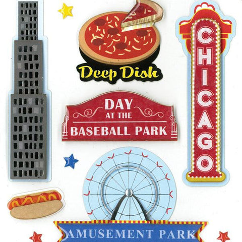 Chicago Dimensional Sticker KCO-30-578661