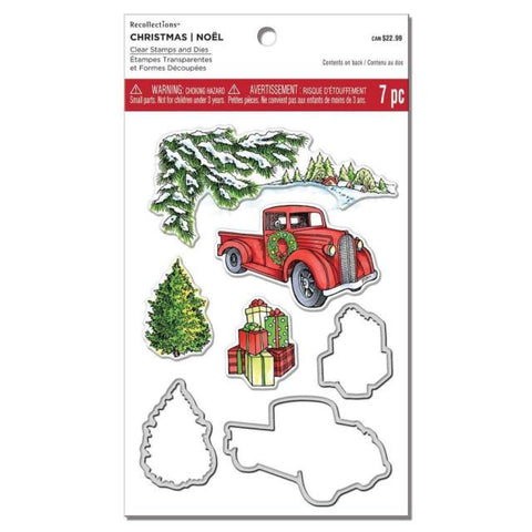 Christmas Truck R 529321Recollections Scrapbooking Rubber Stamps Item 529321 Includes Coordinating Die Cuts